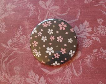 Japanese Bloom Pinback Button 003