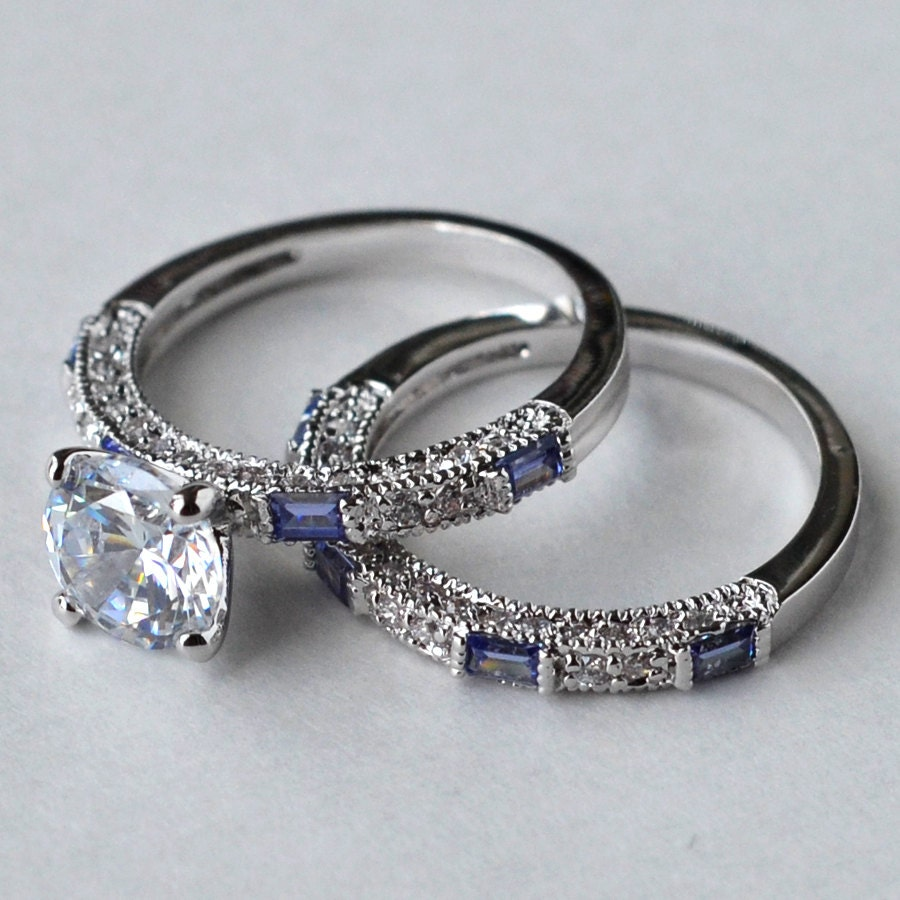 cz ring cz wedding ring cz engagement ring by myrascollections. Black Bedroom Furniture Sets. Home Design Ideas