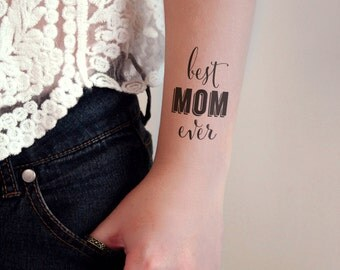 Mother's day temporary tattoo / Best Mom Ever temporary tattoo / mom tattoo / Mother's Day gift idea / Mother gift idea / Mom gift idea