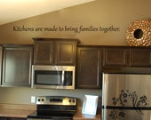 Family wall Decals - Kitchens are made to bring families together- Wall Decal - Wall Vinyl - Wall Decor - Decal - Kitchen Wall Decal