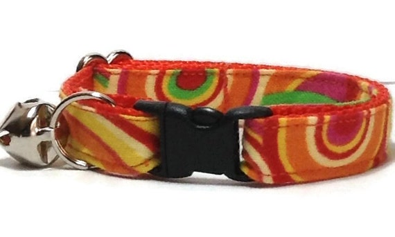 orange cat collars muffin breakaway safety buckle or. Black Bedroom Furniture Sets. Home Design Ideas