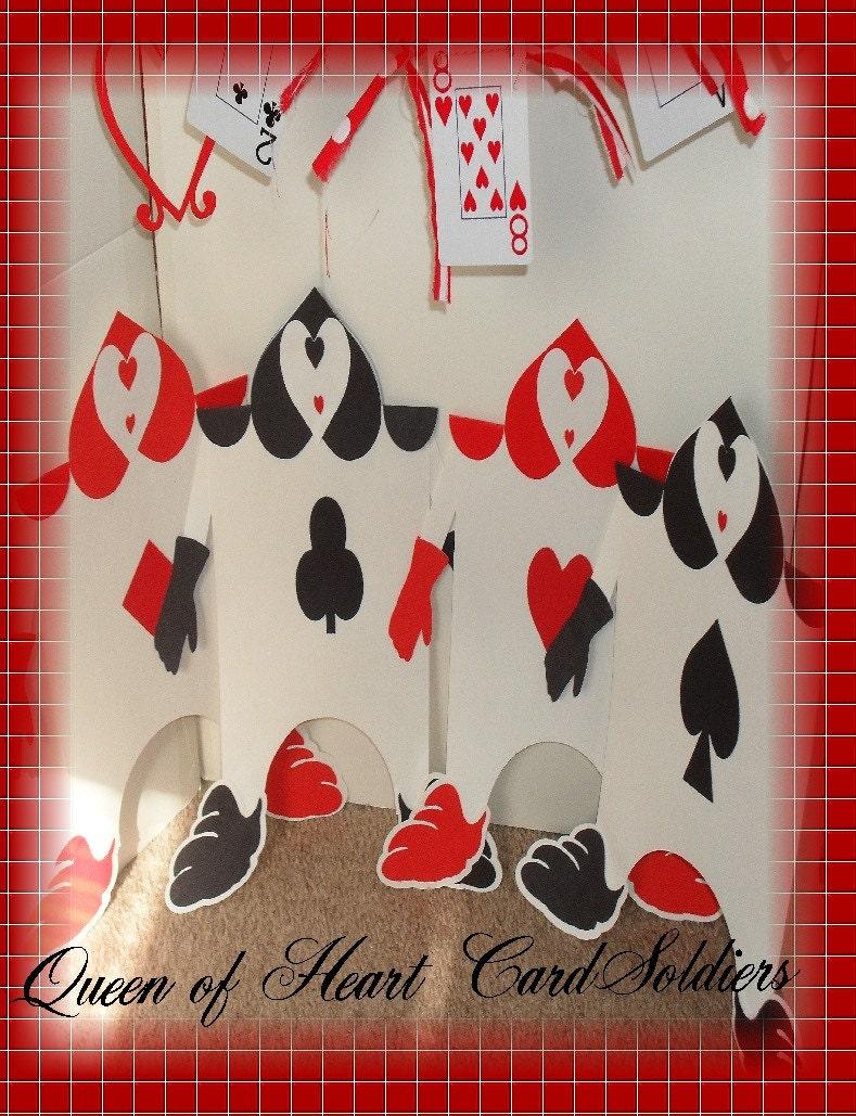 Alice In Wonderland Queen Of Hearts Card Soldiers