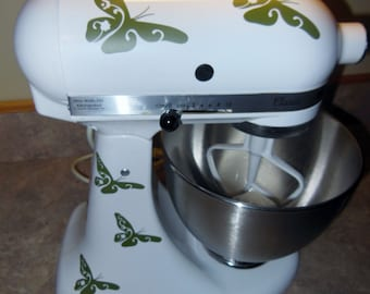 Butterfly KitchenAid Mixer Vinyl Decal , Sticker Set , Add a little personality to your Mixer or other appliances!