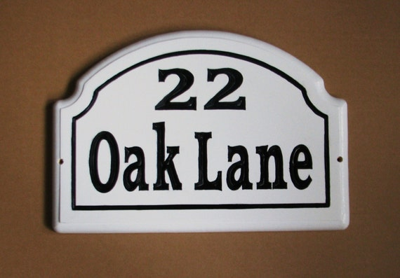 Custom Solid Wood House Number Address Sign Wooden Address