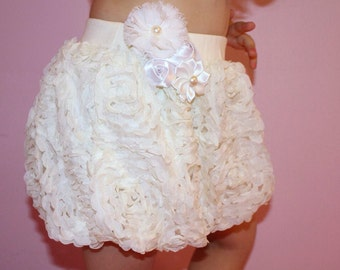 Baby Girl Rosette Bubbly Skirt, Girl Pettiskirt, Birthday Pettiskirt, Photo Prop, Flower Girl Skirt