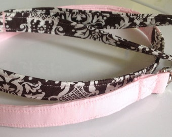 "Pink and Brown Leash for Girl Dog - ""The Victorian"""