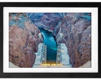 Hoover Dam 2 Nevada Landscape Photography 8x10 Metallic Print - The Hoover Dam