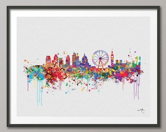 London skyline etsy for Posters art contemporain