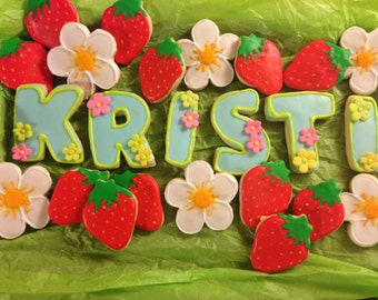 Custom Name Sugar Cookies