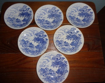 Vintage - Countryside - Wedgewood - Saucers - China - Nice