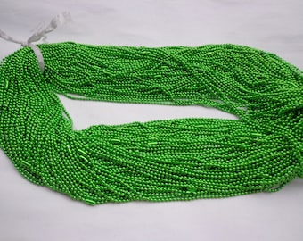 100pcs 27 inch 2.0mm  Grass Green  ball necklace chain with matching connector