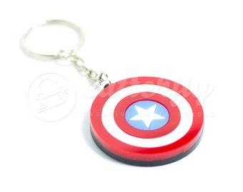 20% OFF - Captain America Keychain