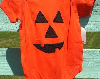 Pumpkin Jack O Lantern Onesie Bodysuit