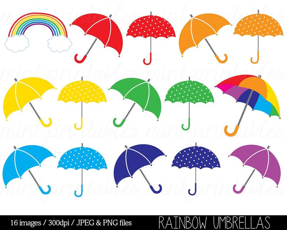 rainbow umbrella clip art - photo #9