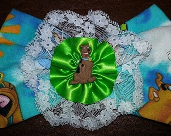 Scooby Doo Fabric Lace Satin Hair Bow Clip