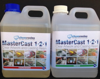 Clear Epoxy Resin 1 gl / 4kg kit Resin and Hardener, coating for paintings, epoxy for art, for resin beads, art coating, craft resin art