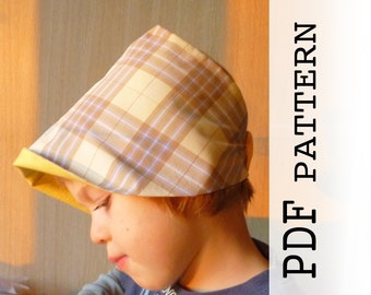 Kids Summer Hat Sewing Pattern, PDF sewing pattern and tutorial for baby, children hat, Sun Hat pattern for Kids, Easy sewing pattern