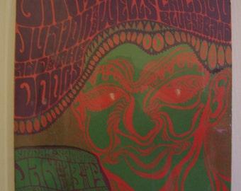 Grateful Dead poster dated 1966 2nd type ORIGINAL by wes wilson # BG 45.Still In Its Original Wraper