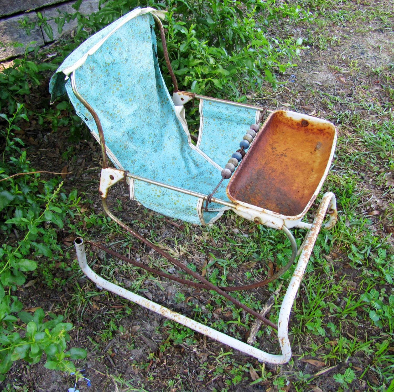 1950u0027s Vintage Baby Bouncer High Chair Seat, Baby Furniture U2013 Haute Juice