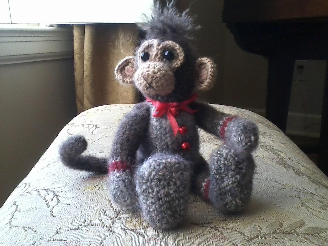 Amigurumi Crochet Sock Monkey : Collectable sock monkey crochet amigurumi