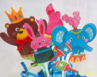 Circus cake topper, Carnival cake topper, circus smash cake topper, circus 1st birthday, circus birthday, circus baby shower, carnival party