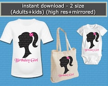 INSTANT  DL - Barbie  Iron on Transfer,  Barbie T Shirt -  (non personalized)