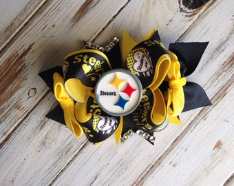 Steelers boutique stacked bow