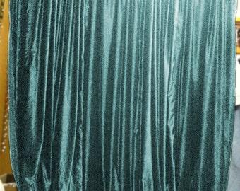 Aqua Color Velvet Curtains Drape Backdrop Panels 9ft