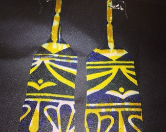 African Print Earrings