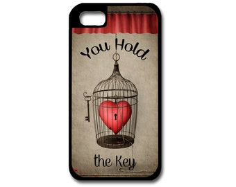 Birdcage Phone Case, Heart Phone Case, iPhone Case, Samsung Galaxy Phone Case, Lock Phone Case