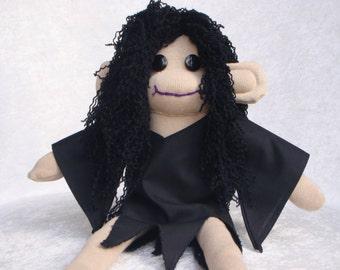 SALE! / Sock Monkey / Bellatrix Lestrange Inspired / Harry Potter / Death Eater / Harry Potter Gift / Slytherin / Unique Gift