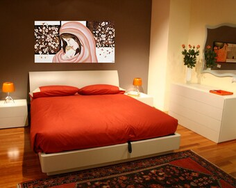Quadro moderno sacro maternità per camera da letto. Dipinto a mano ... Images - Frompo