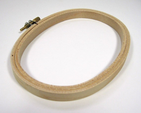 Darice embroidery hoop inch oval wooden for