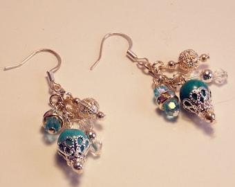Aqua Charm - Earrings