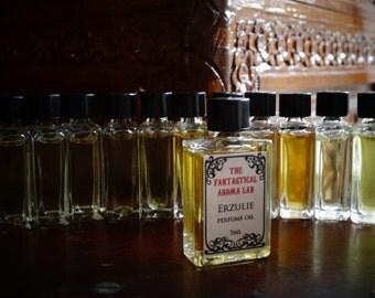 Erzulie Artisan Perfume Oil, 5 ml, Dab on, Rose Saffron Floral Oriental