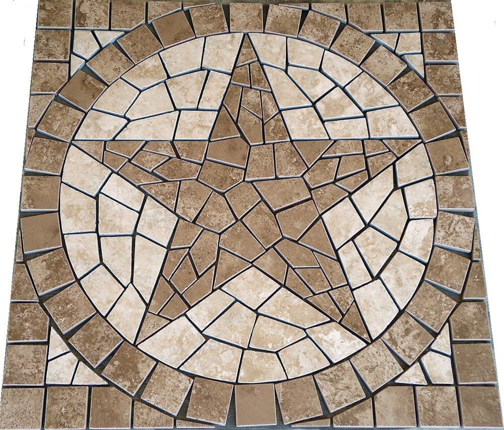 Square Charro Texas Star Mosaic Porcelain Tile By Jdyermosaics