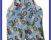 Motor bike fabric play shorts with bib
