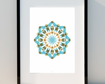 """Geometric poster """"Connecting Circles I"""" Art for home, Poster, home, wall decor, Print Design, A2, A3 or A4"""
