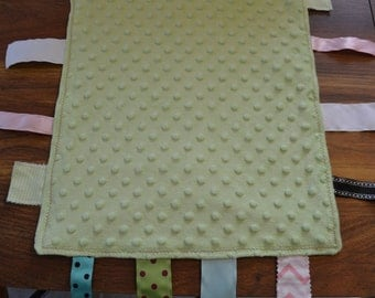 Baby Blanket with Ribbon Tags