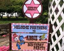 Callie Cat Birthday Yard Sign
