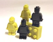 10 - sets of 4 - Mini Figure with Brick Inspired Party Favors 4 Pieces in each bag.