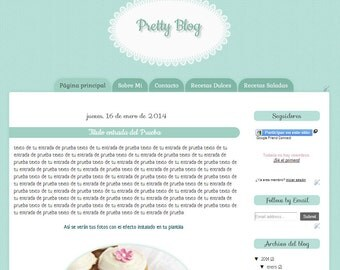 Pretty Blog Blogger Template