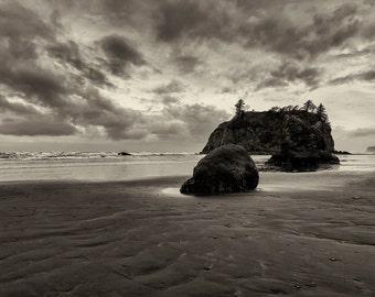 Beach Photography, Fine Art Black and White Landscape Photography, Ocean, Nature, Pacific Coast, Sand, Beach Wall Art, Home Decor, Wall Art