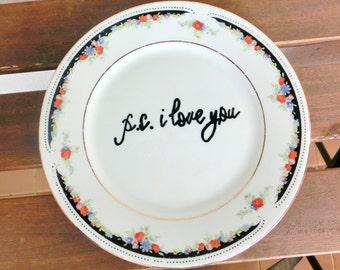 Dessert Teller Plate P.S. I LOVE YOU