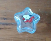 Vintage Charles Schultz Snoopy Star Shaped Glass Trinket Box United Feature Syndicate Inc From 1958