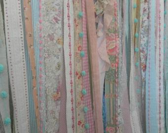 Shabby Rustic Boho Wedding Long Fabric Backdrop Nursery