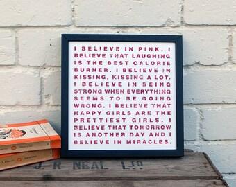 Audrey Hepburn Quote Print In Purple