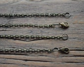 Antique Bronze Rolo Necklace - 24 inches. Lobster Clasp. PACK 20. Jewellery Supplies. Sydney Australia