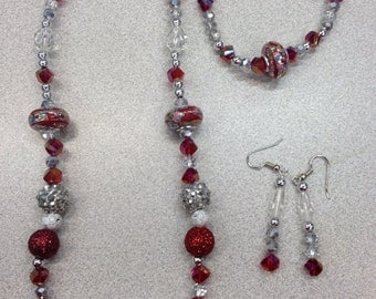 Valentines earrings, Peppers Mint,  bright red earrings, red sparkle earrings, silver sparkle earrings, red shimmer, 2timothys16