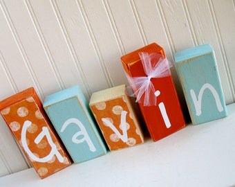 Personalized Name Blocks Nursery Decoration Kids Name Blocks Children Decoration Baby Shower Gift Baby Gift
